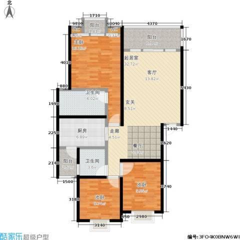 奔力乡间城3室0厅2卫1厨135.00㎡户型图