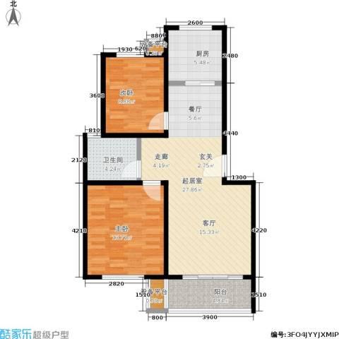 鑫龙花苑2室0厅1卫1厨79.00㎡户型图