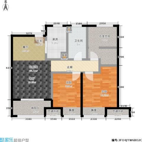 万科VC小镇2室0厅1卫1厨83.00㎡户型图