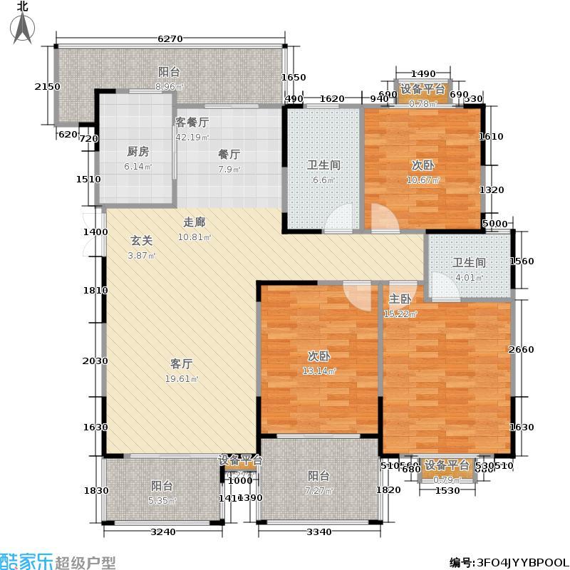 福源名居131.00㎡一期7-10、12、18、20、23号楼标准层C1户型