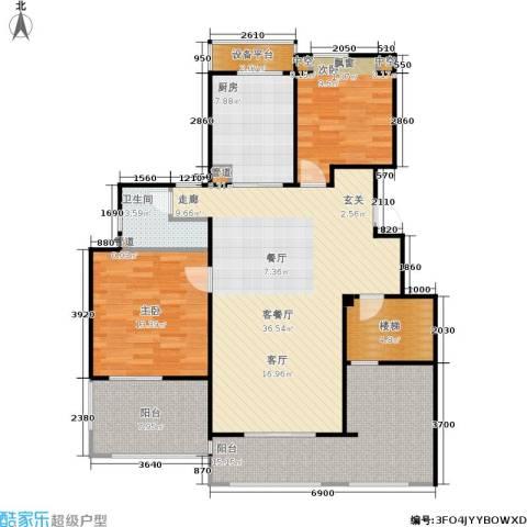 万科金色半山2室1厅1卫1厨110.00㎡户型图
