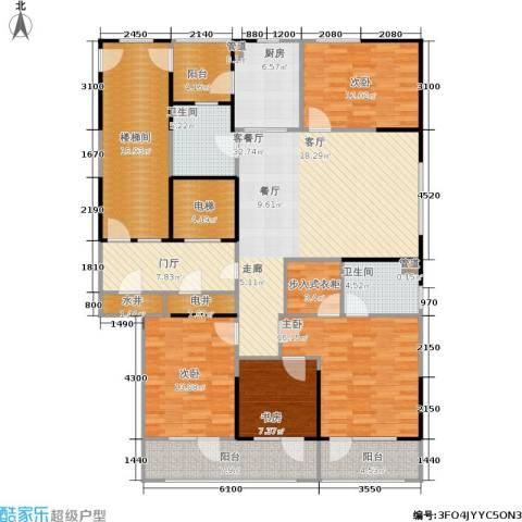 金基尚书里4室1厅2卫1厨162.00㎡户型图