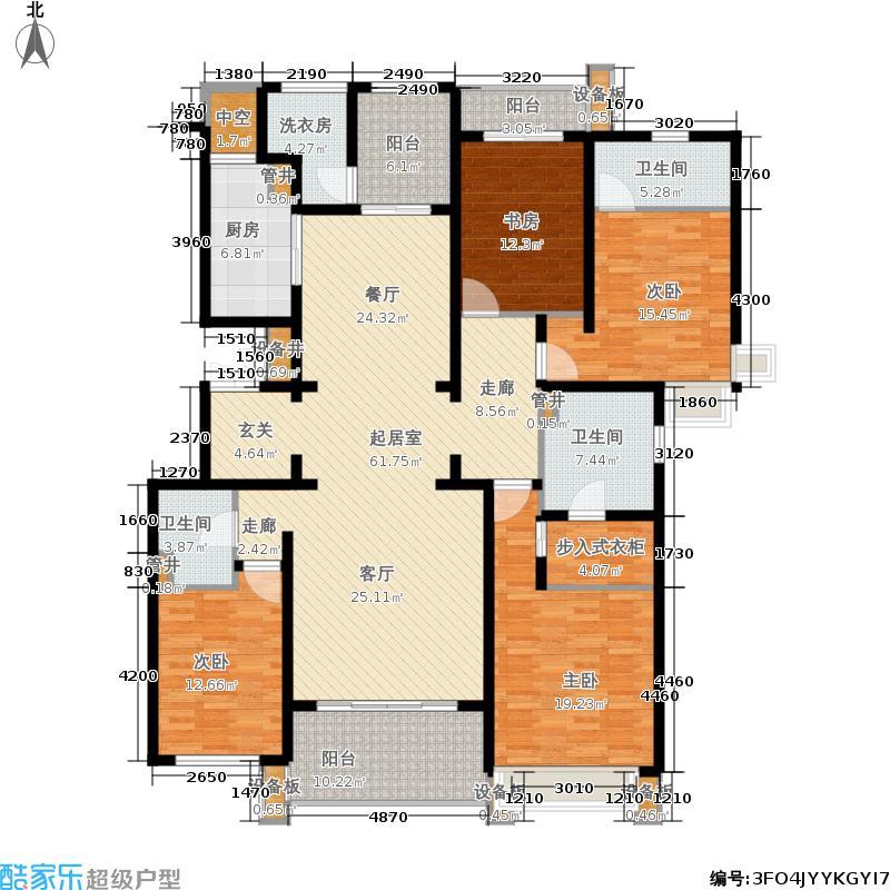招商紫金山1号204.00㎡一期4号楼标准层G1户型