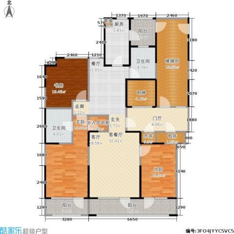 金基尚书里3室1厅2卫1厨142.00㎡户型图