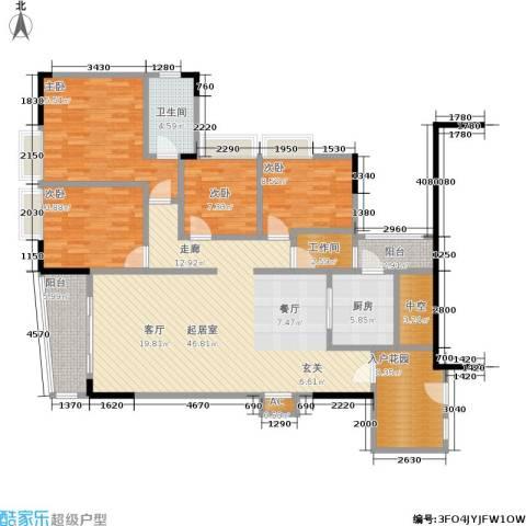 瑞安花园4室0厅1卫1厨148.00㎡户型图