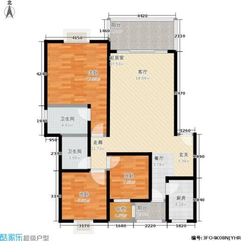 奔力乡间城3室0厅2卫1厨138.00㎡户型图
