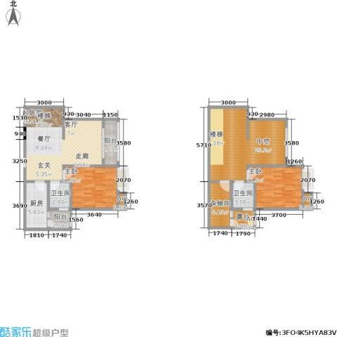 五星国色天香2室0厅2卫1厨141.00㎡户型图