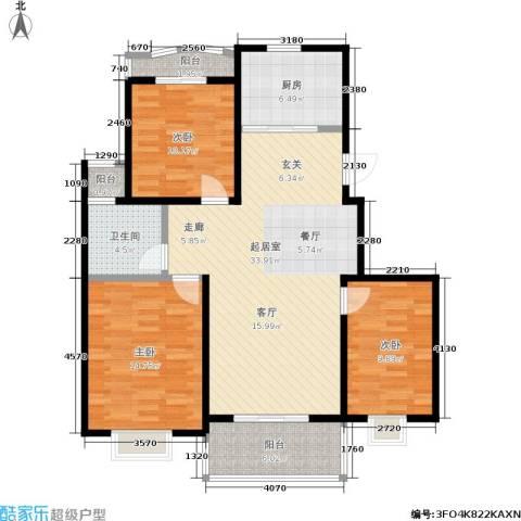 银河湾3室0厅1卫1厨101.00㎡户型图