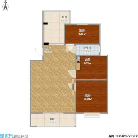 嘉禾・盛世豪庭3室1厅1卫1厨108.00㎡户型图