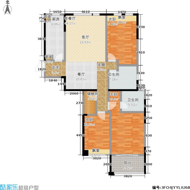 都市羲和140.00㎡一期B号楼1-26层c户型