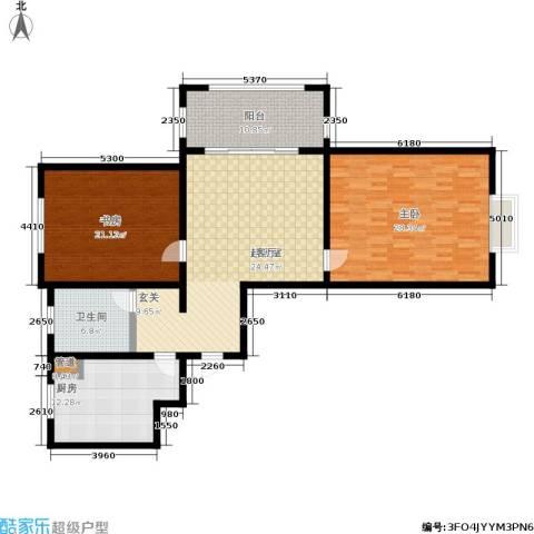 北宸新苑2室0厅1卫1厨128.00㎡户型图