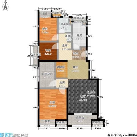 万科VC小镇3室0厅1卫1厨93.00㎡户型图