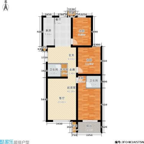 馨园丽景3室0厅2卫1厨140.00㎡户型图