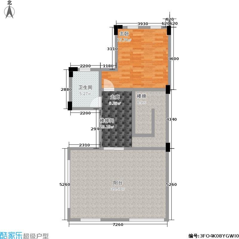 劲嘉金棕榈湾47.02㎡别墅四层平面图户型