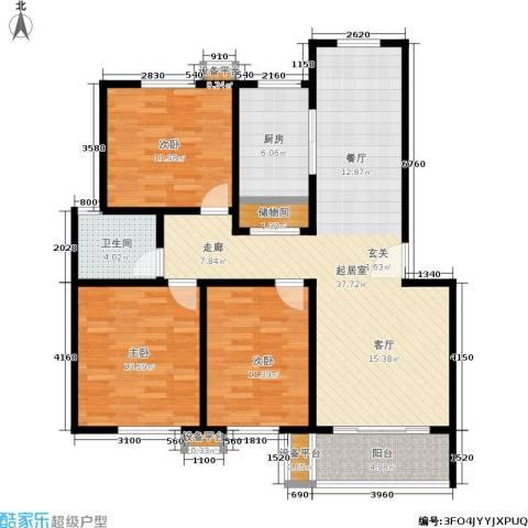 鑫龙花苑3室0厅1卫1厨112.00㎡户型图