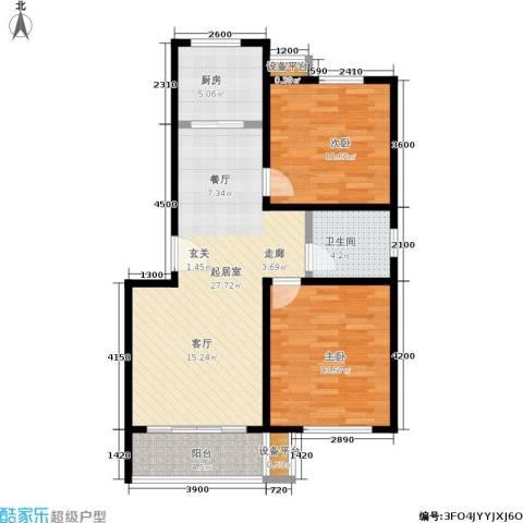 鑫龙花苑2室0厅1卫1厨83.00㎡户型图