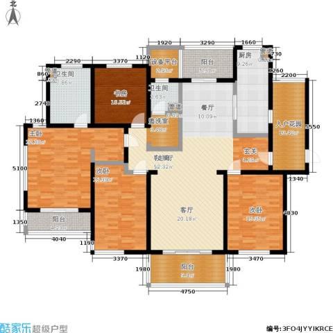 长江峰景4室1厅2卫1厨185.00㎡户型图