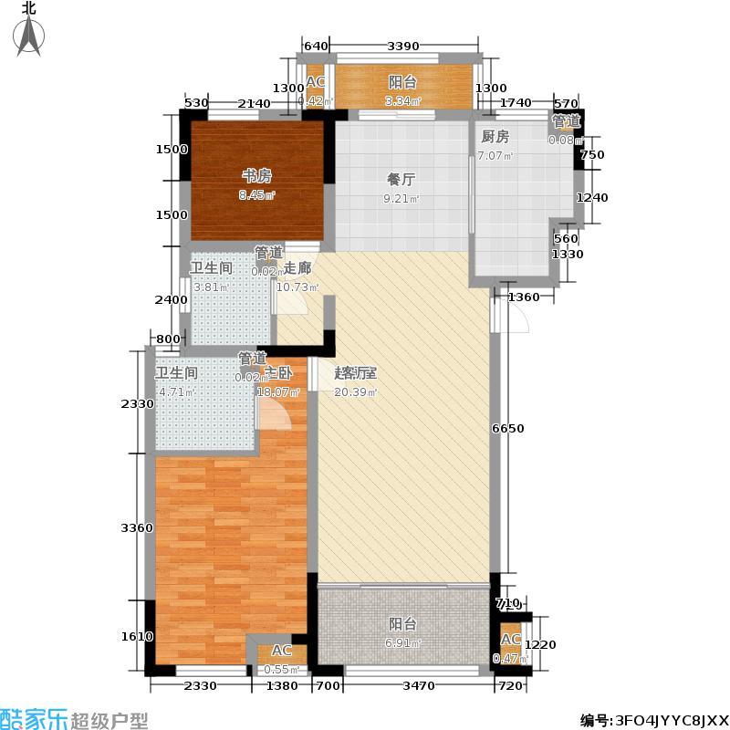 宏图上水庭院115.00㎡一期1幢1层G130-1-A户型