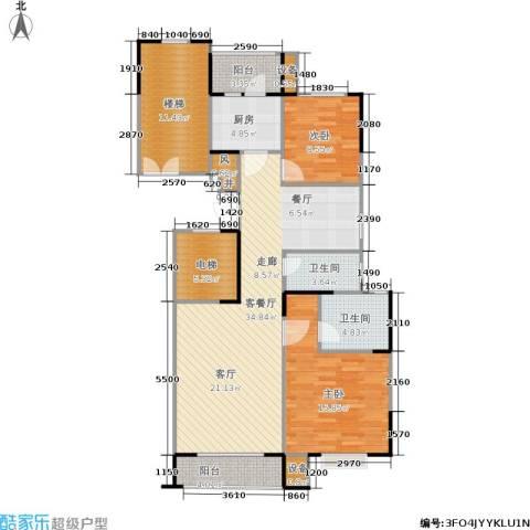 京门府2室1厅2卫1厨108.00㎡户型图