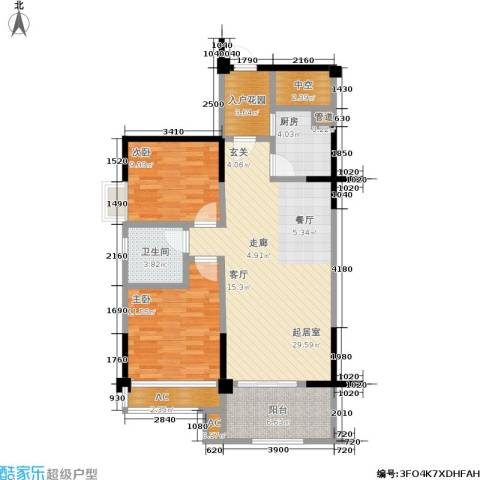 厦门禹洲高尔夫2室0厅1卫1厨86.00㎡户型图