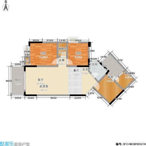 中新城上城2室0厅1卫1厨122.00㎡户型图