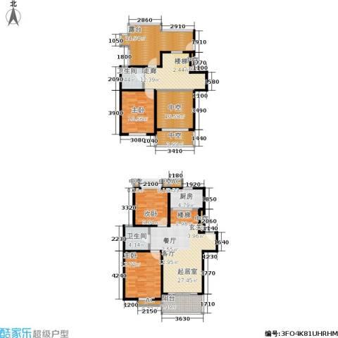 银河湾3室0厅2卫1厨136.00㎡户型图