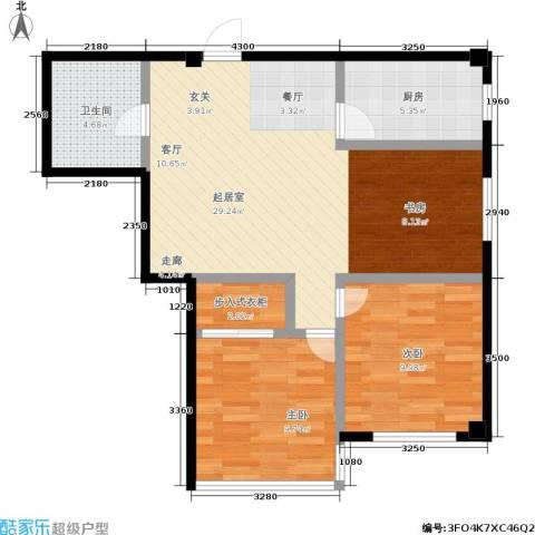 万丰・王子公寓2室0厅1卫1厨80.00㎡户型图