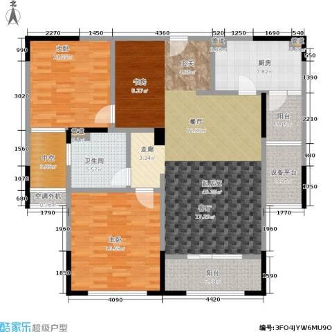 万科玲珑湾天萃2室0厅1卫1厨110.00㎡户型图