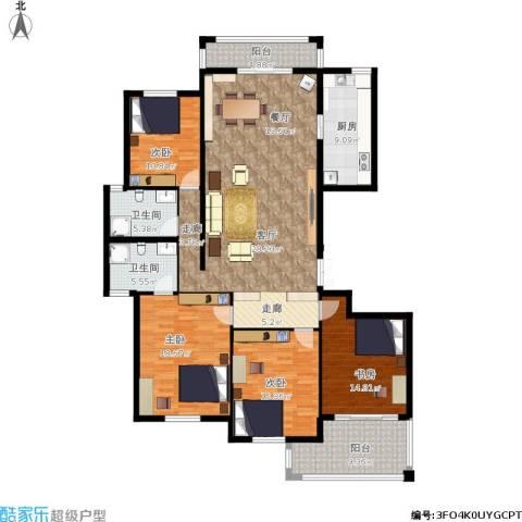 香格里拉花园4室1厅2卫1厨201.00㎡户型图
