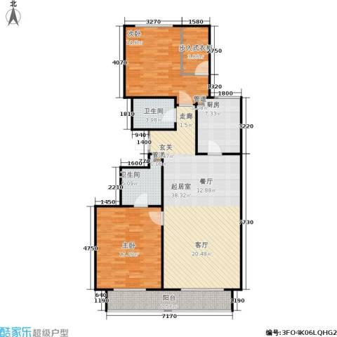 顺鑫华玺瀚楟2室0厅2卫1厨116.00㎡户型图