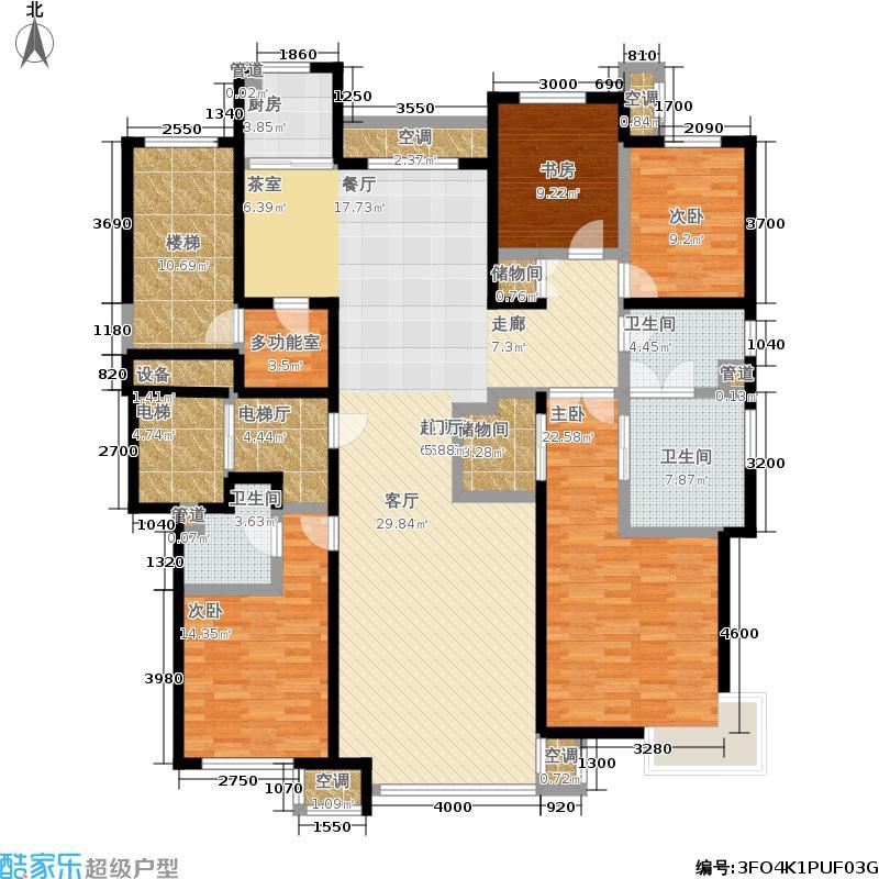华润·润西山209.00㎡A1户型4室2厅