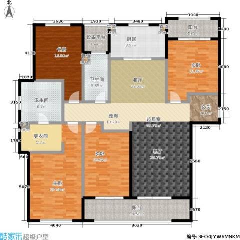 万科玲珑湾天萃4室0厅2卫1厨190.00㎡户型图