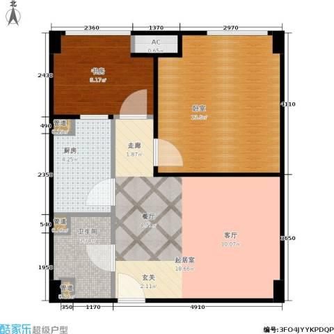 金轮星光名座1室0厅1卫1厨59.00㎡户型图