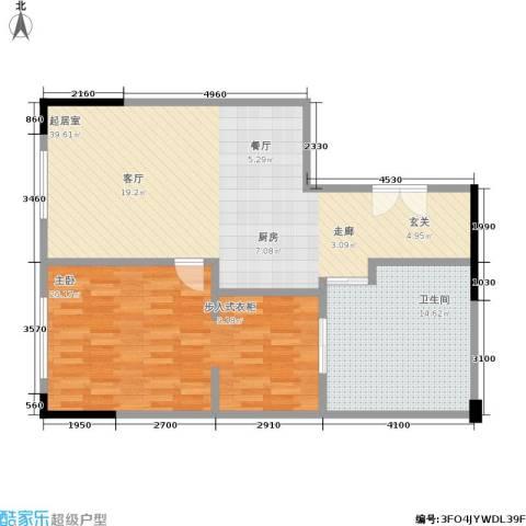 晋合公寓1室0厅1卫0厨88.00㎡户型图