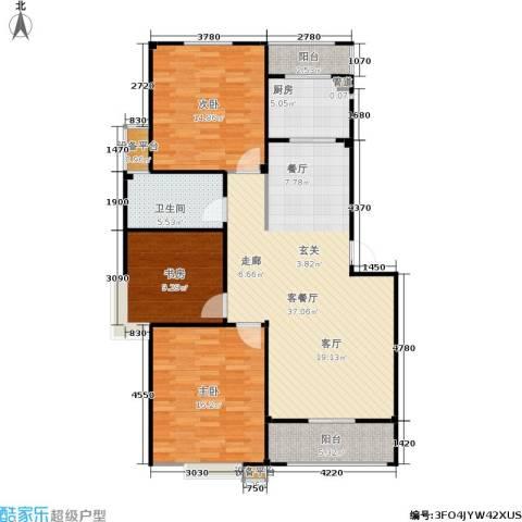 甫澄熙岸3室1厅1卫1厨105.00㎡户型图