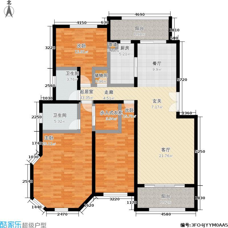 湖滨一品苑150.00㎡一期11、30号楼标准层F1户型