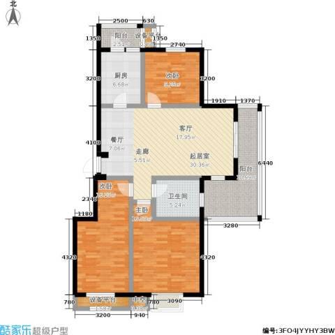 天华硅谷3室0厅1卫1厨113.00㎡户型图