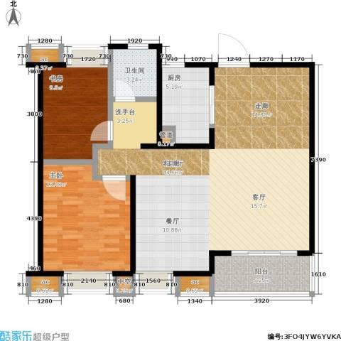 九龙仓时代上城年华里2室1厅1卫1厨100.00㎡户型图