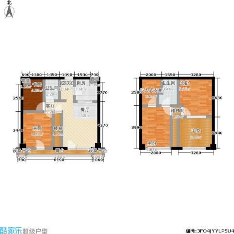 富力十号4室0厅2卫1厨92.00㎡户型图