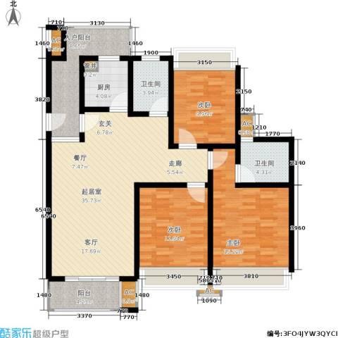 中惠晨曦怡庭3室0厅2卫1厨117.00㎡户型图