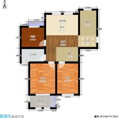 乐居雅花园3室0厅1卫0厨89.00㎡户型图