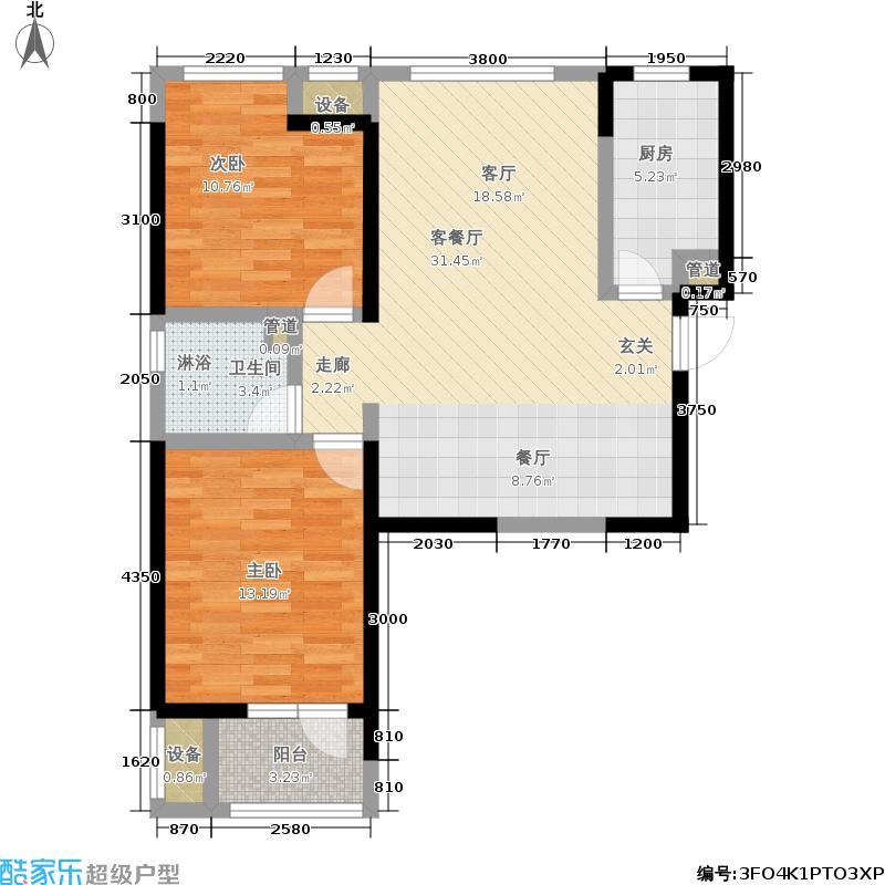 华业东方玫瑰1户型2室1厅