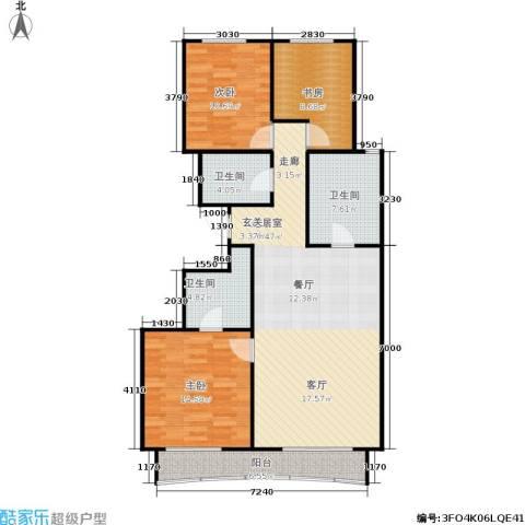 顺鑫华玺瀚楟3室0厅3卫0厨115.00㎡户型图