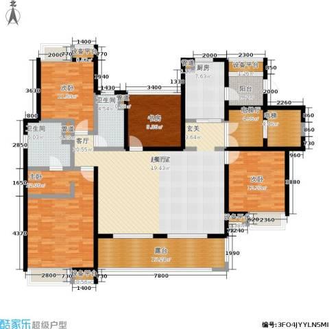 富力十号4室0厅2卫1厨156.00㎡户型图