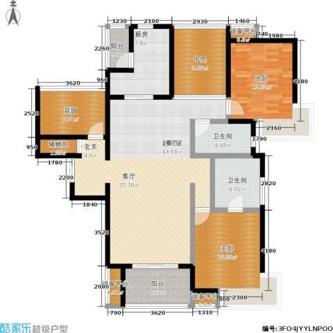富力十号2室0厅2卫1厨137.00㎡户型图