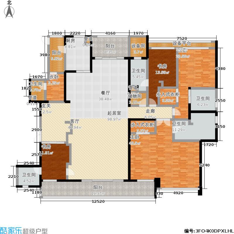 伊泰天骄325.00㎡1期4、6号楼标准层户型