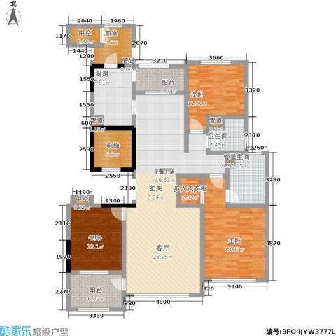 石湖天玺3室0厅2卫1厨153.95㎡户型图