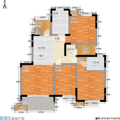 三金燕语庭3室0厅2卫1厨127.00㎡户型图