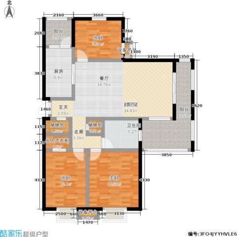 天华硅谷3室0厅1卫1厨121.00㎡户型图