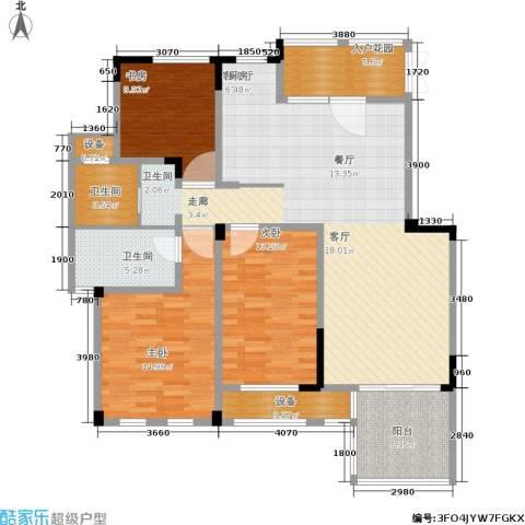 东方维罗纳3室1厅2卫0厨120.00㎡户型图